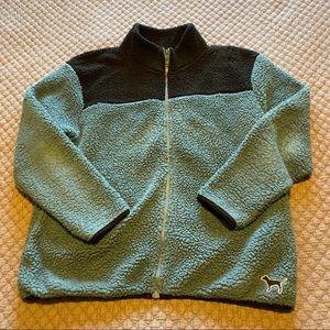 PINK Sherpa zip up jacket